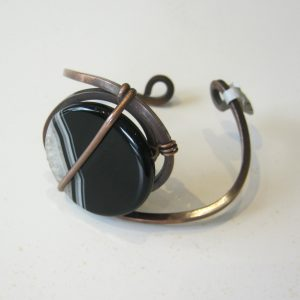 Striped Agate Copper Cuff