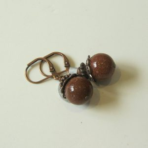 Sunstone & Copper Earrings