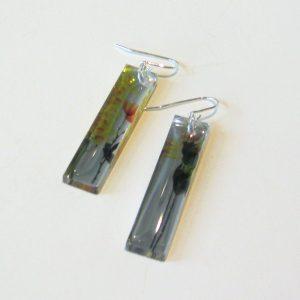 Mirror Bouquet Acrylic Earrings