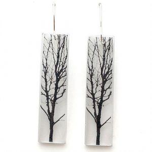 Tall Tree Acrylic Earrings