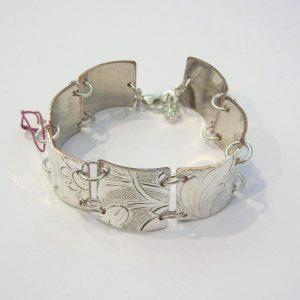 Vintage Silver 7 Section Bracelet