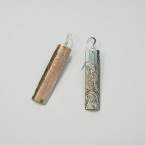Vintage Silver and Copper Earrings