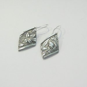 Vintage Silver Flower 2 Earrings