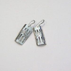 Vintage Silver Garland Earrings