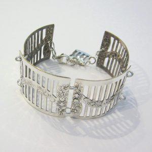 Vintage Silver Garland Bracelet