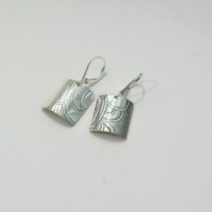 Vintage Silver Square 3 Earrings