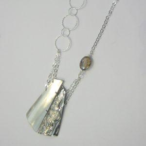 Vintage Silver 2 Tone Necklace