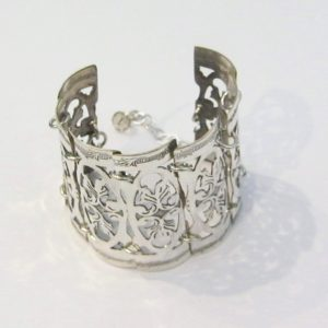 Vintage Silver X Wide Open Bracelet