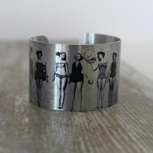 Bathing Beauties Aluminum Cuff