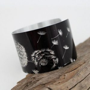 Dandelion Wishes Aluminum Cuff