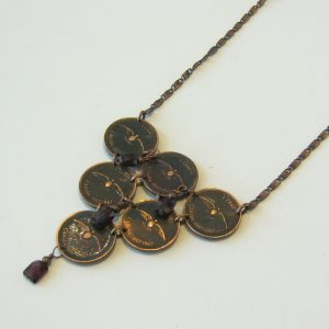 1967 Penny & Garnet Necklace