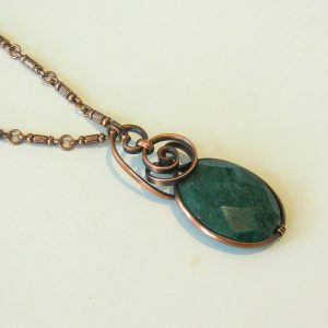 African Aventurine Copper Necklace