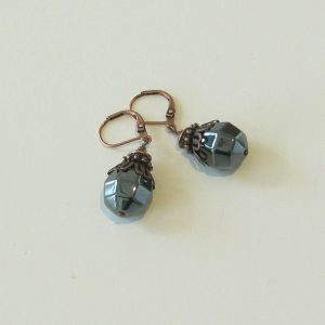 Hematite Copper Earrings