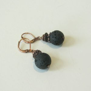 Volcano Lava Stone Earrings