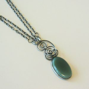 Oval Motoralite With Silver Chain