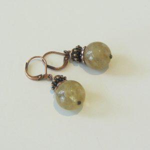 Quartz Copper Earrings