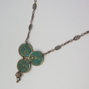1967 Green Trio Penny Necklace