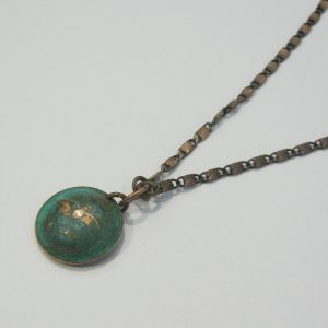 1967 Green Domed Penny Necklace