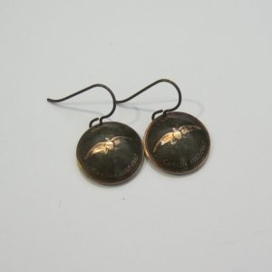 1967 Domed Penny Earrings