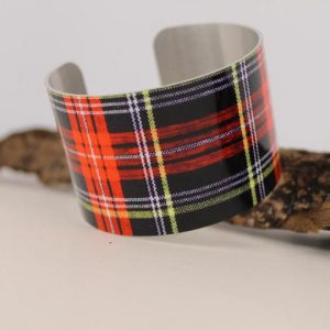 Mad For Plaid Aluminum Cuff