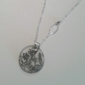 Vintage Silver Glass Necklace 1