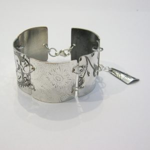 Vintage Silver 5 Section Bracelet