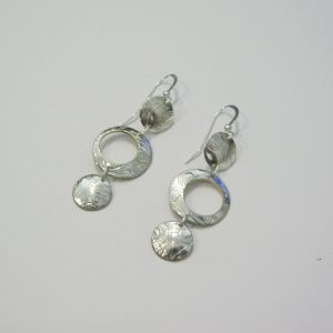 Vintage Silver Circle Earrings 6