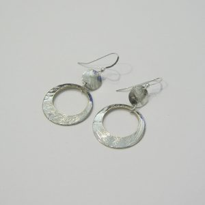 Vintage Silver Circle Earrings 7