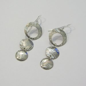 Vintage Silver Circle Earrings 8