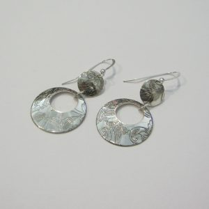 Vintage Silver Circle Earrings 9