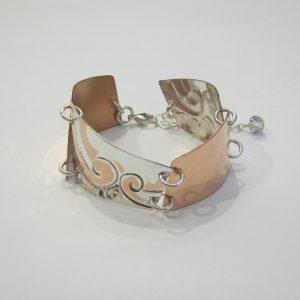 Vintage Copper Silver Bracelet 1
