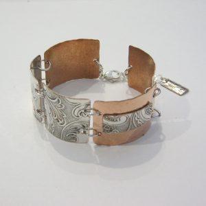 Vintage Copper Silver Bracelet 2