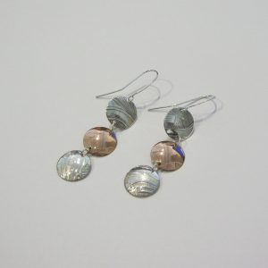 Vintage Silver Copper Earrings 2
