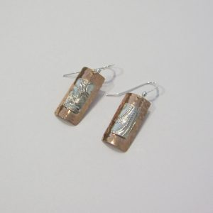 Vintage Silver Copper Earrings 3