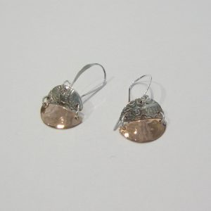 Vintage Silver Copper Earrings 4
