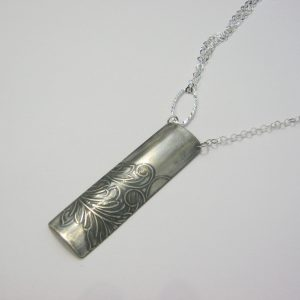 Vintage Distressed Silver Necklace
