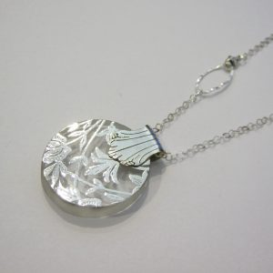 Vintage Silver Glass Necklace 3