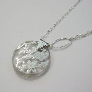 Vintage Silver Glass Necklace 4