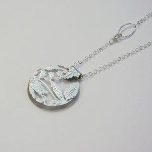 Vintage Silver Glass Necklace 5