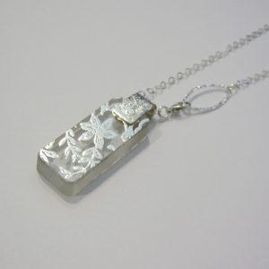 Vintage Silver Glass Necklace 6