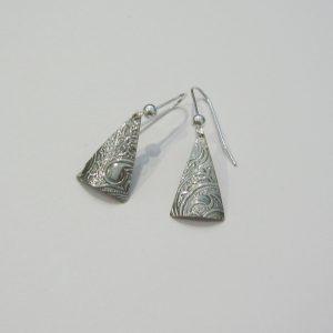 Vintage Silver Triangle Earrings 5