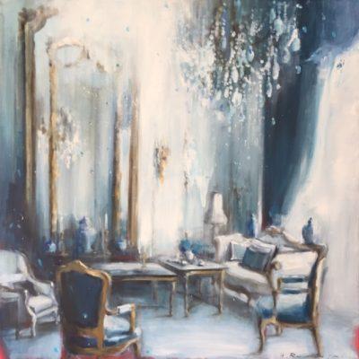 Sitting Room in Blue 30x30