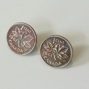 1961 Copper Penny Earrings