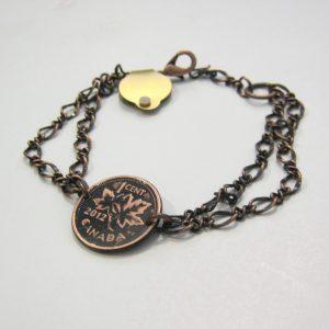 2012 Copper Penny Chain Bracelet