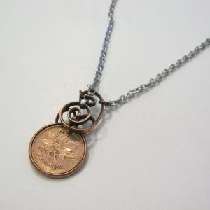 1950 Penny Twist Steel Necklace