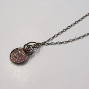 2012 Copper Penny Twist Necklace
