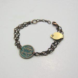 2012 Green Penny Chain Bracelet