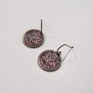 2012 Copper Penny Earrings 1
