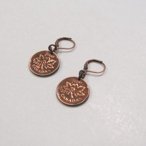 2012 Copper Penny Earrings 2