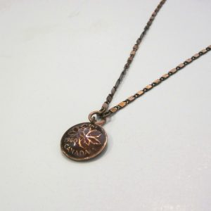 1960 Penny Copper Dome Necklace